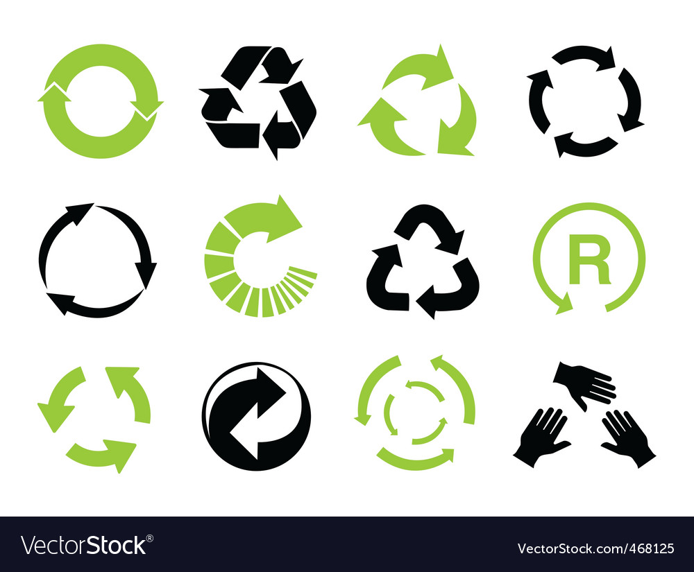 Recycle symbols vector