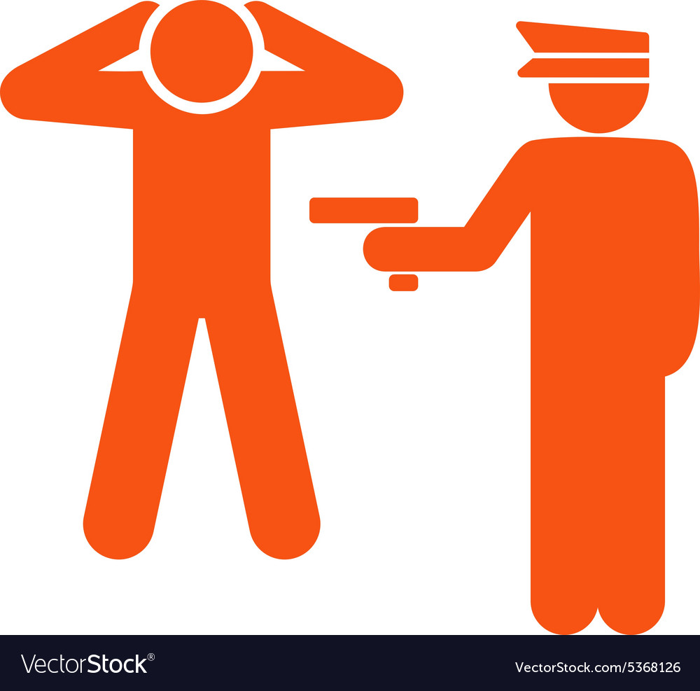 Arrest icon from business bicolor set vector