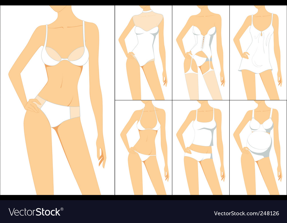 Female underwear vector
