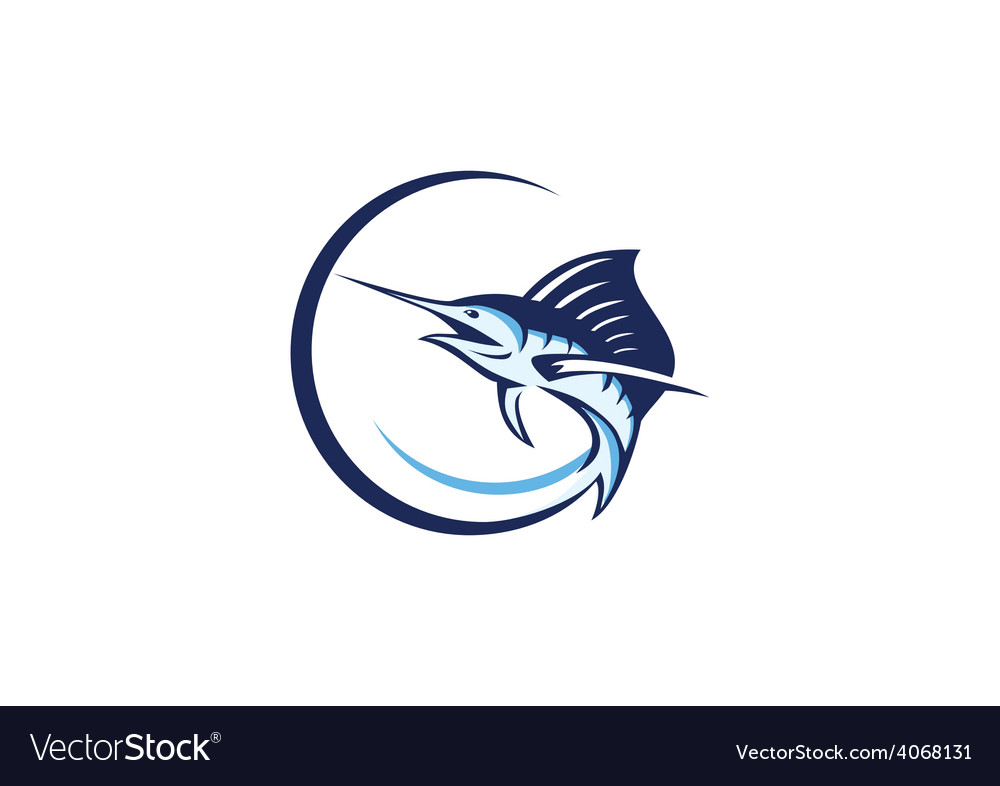 Fish tuna fishing logo vector