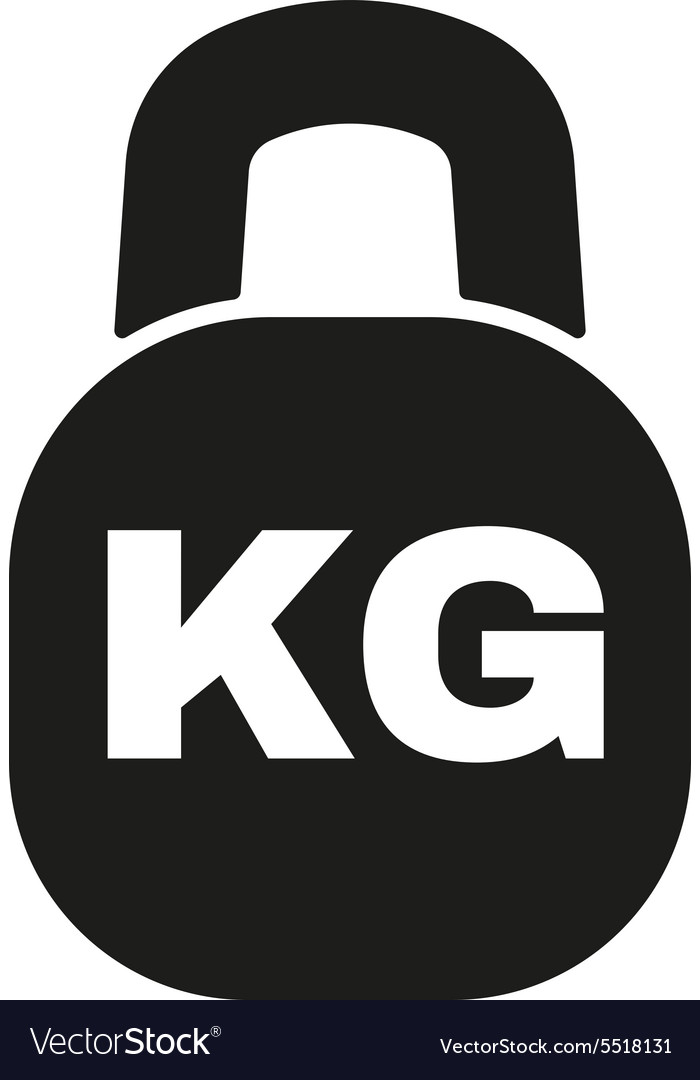 Kilogram icon kg and weight symbol flat vector