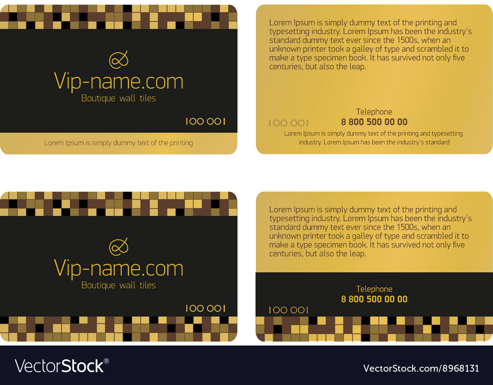 Loyalty card design template vector