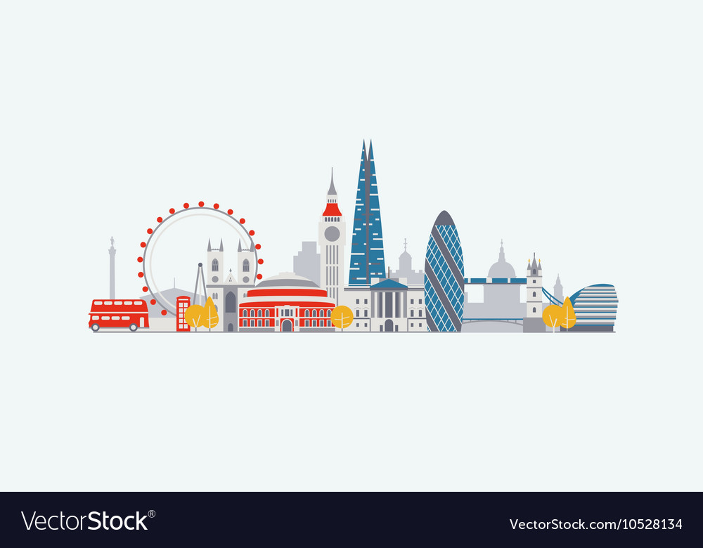 London abstract skyline vector