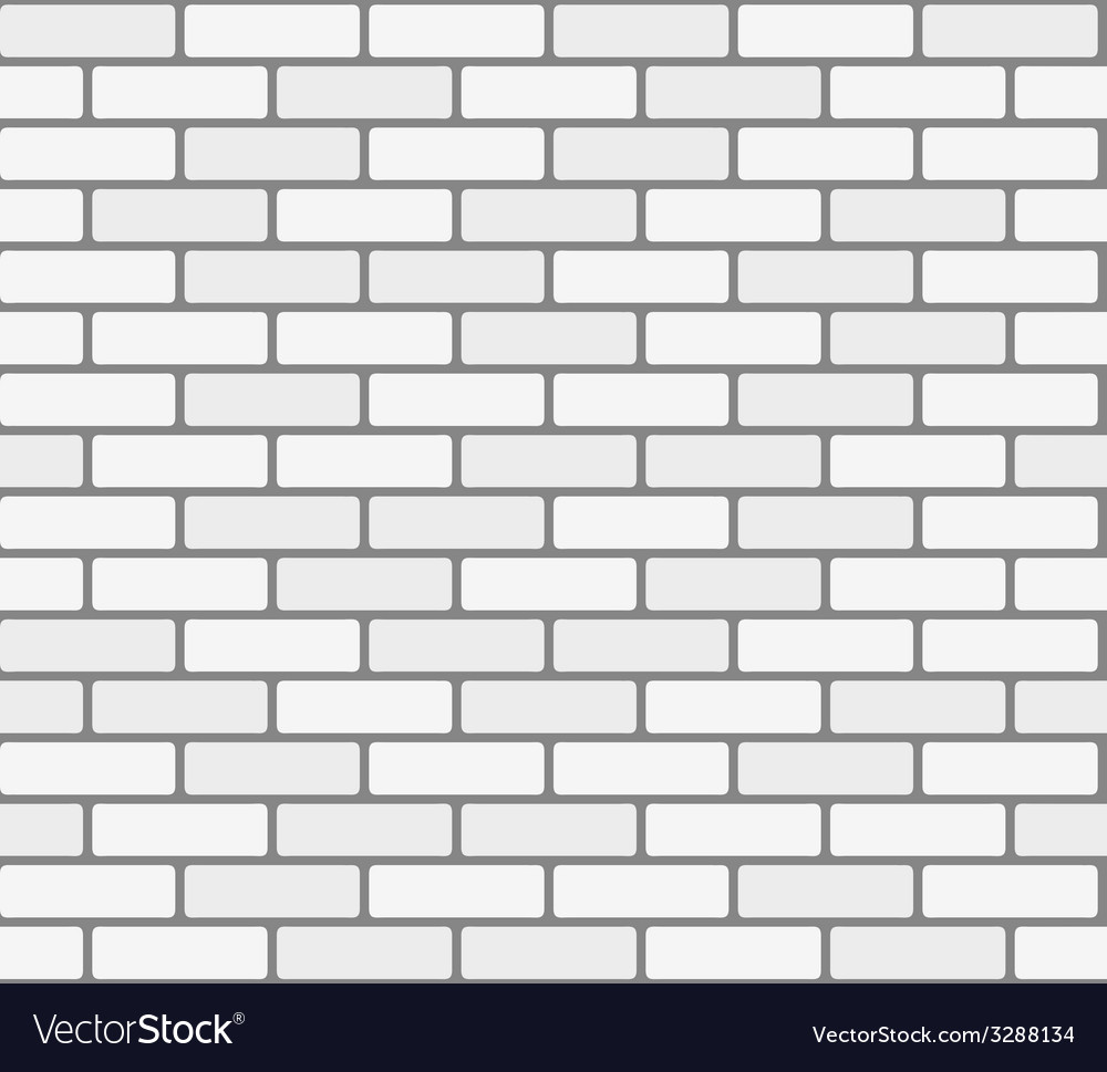 White brick wall seamless texture vector