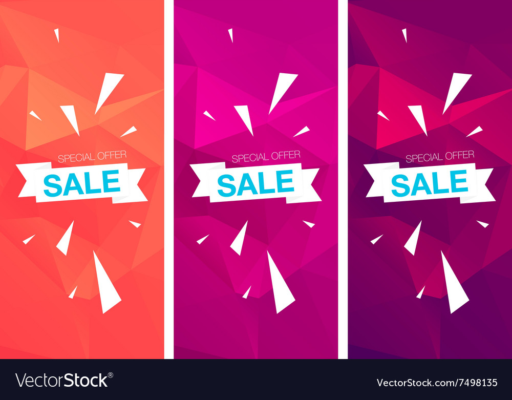 Super sale special offer vertical banners vector