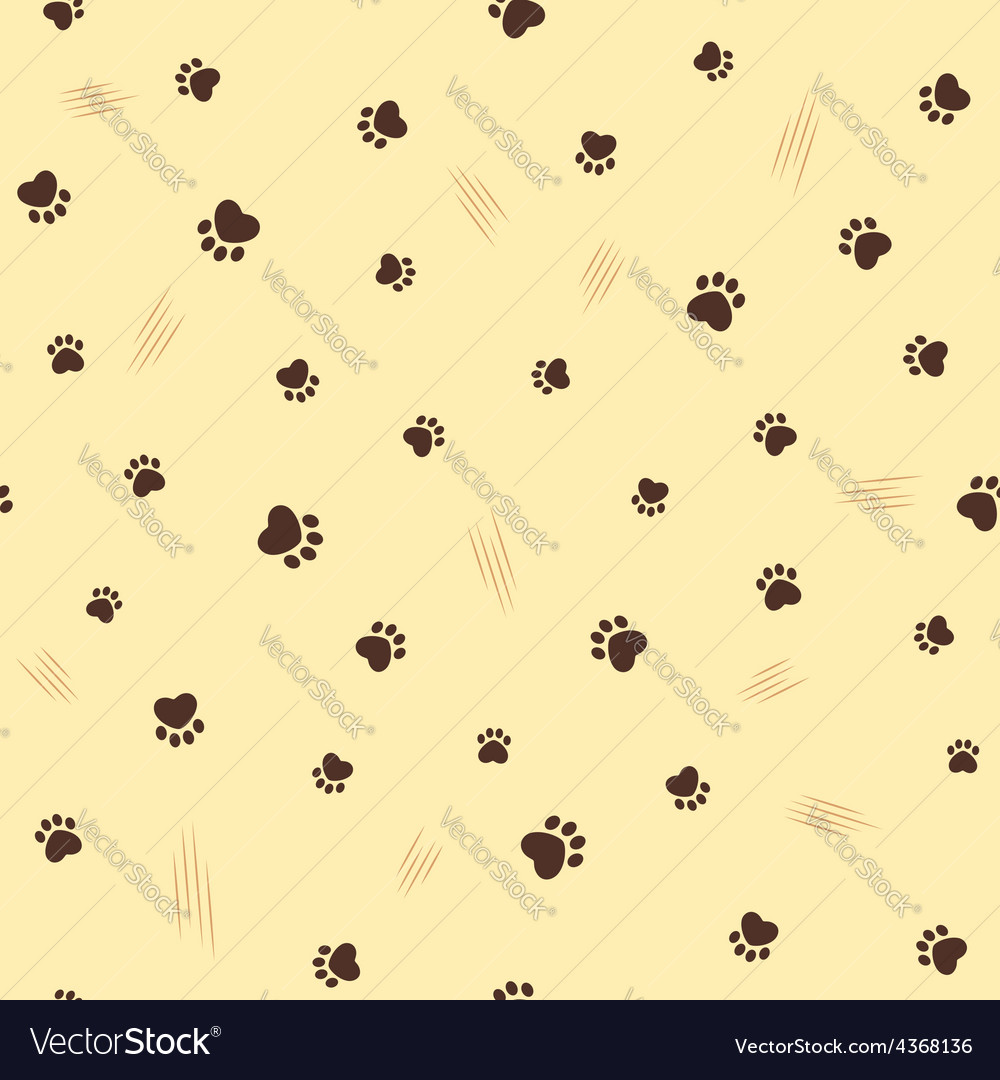 Cat theme seamless background vector