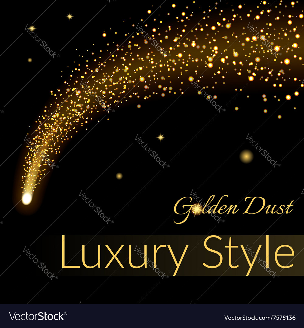 Golden sparkling falling star 1 vector