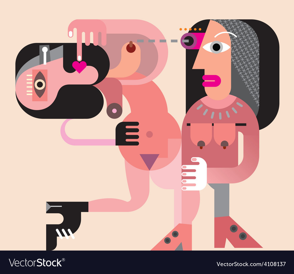 Two naked women vector