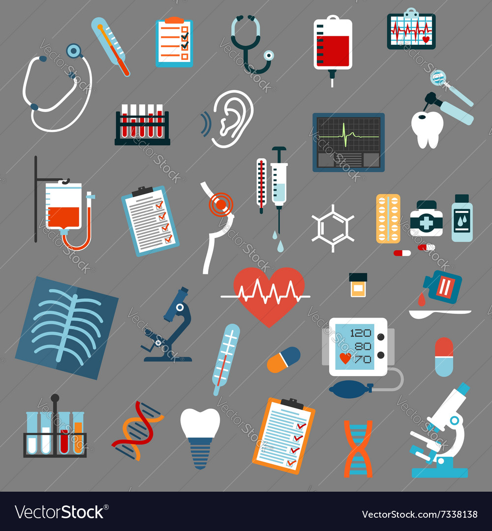 Medical diagnostics testing and equipment vector