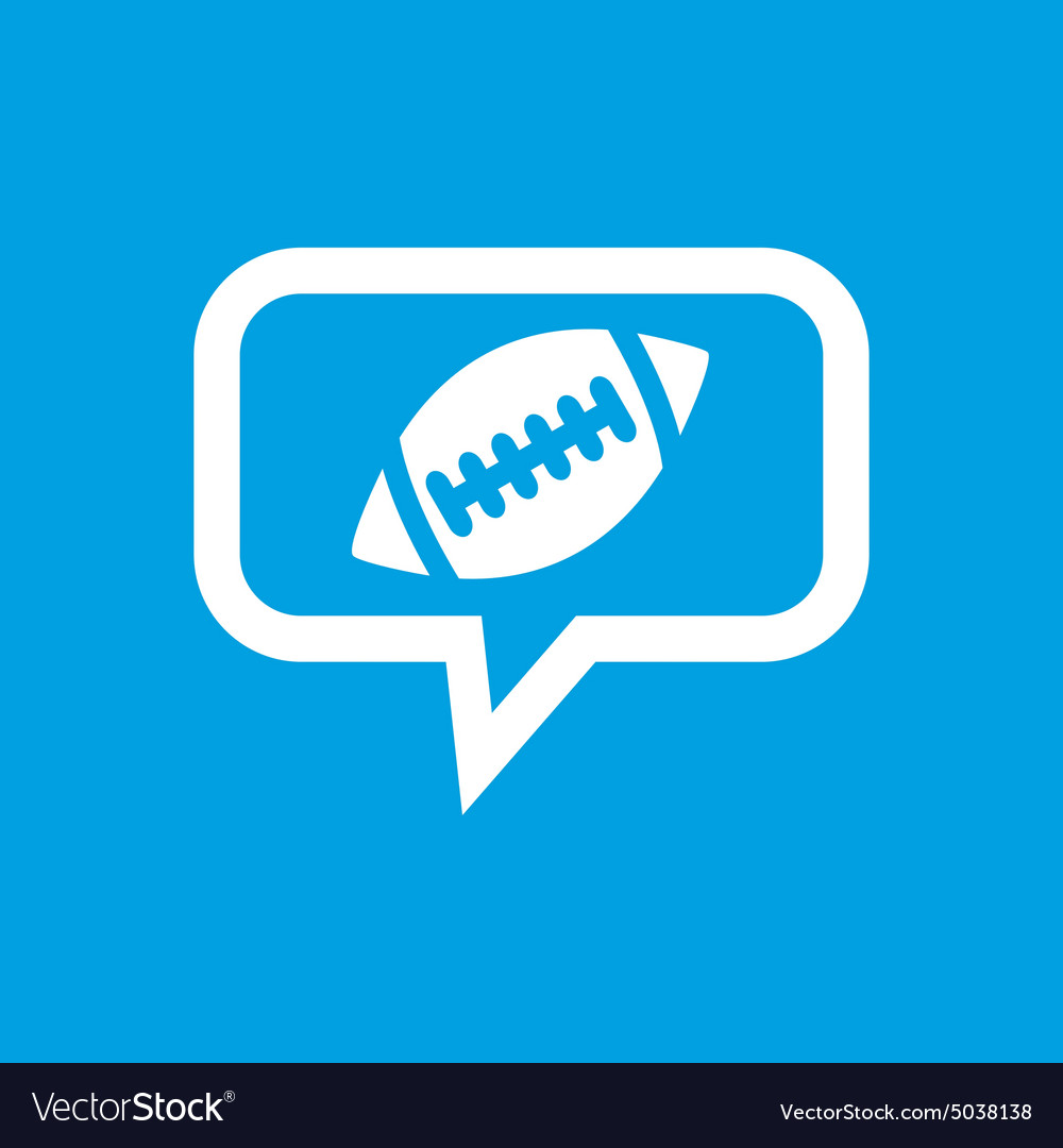 Rugby message icon vector