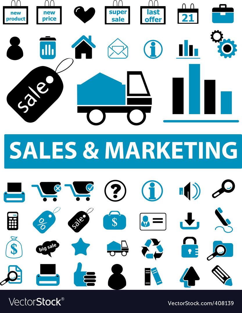 Sales marketing signs vector
