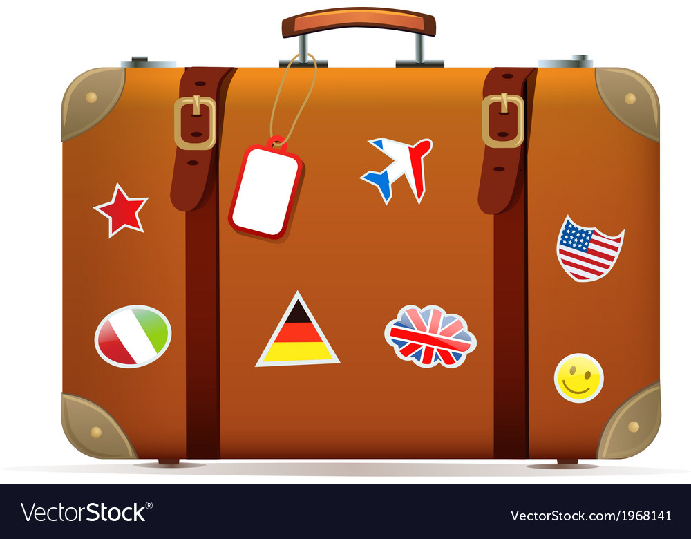 Isolated suitcase vector