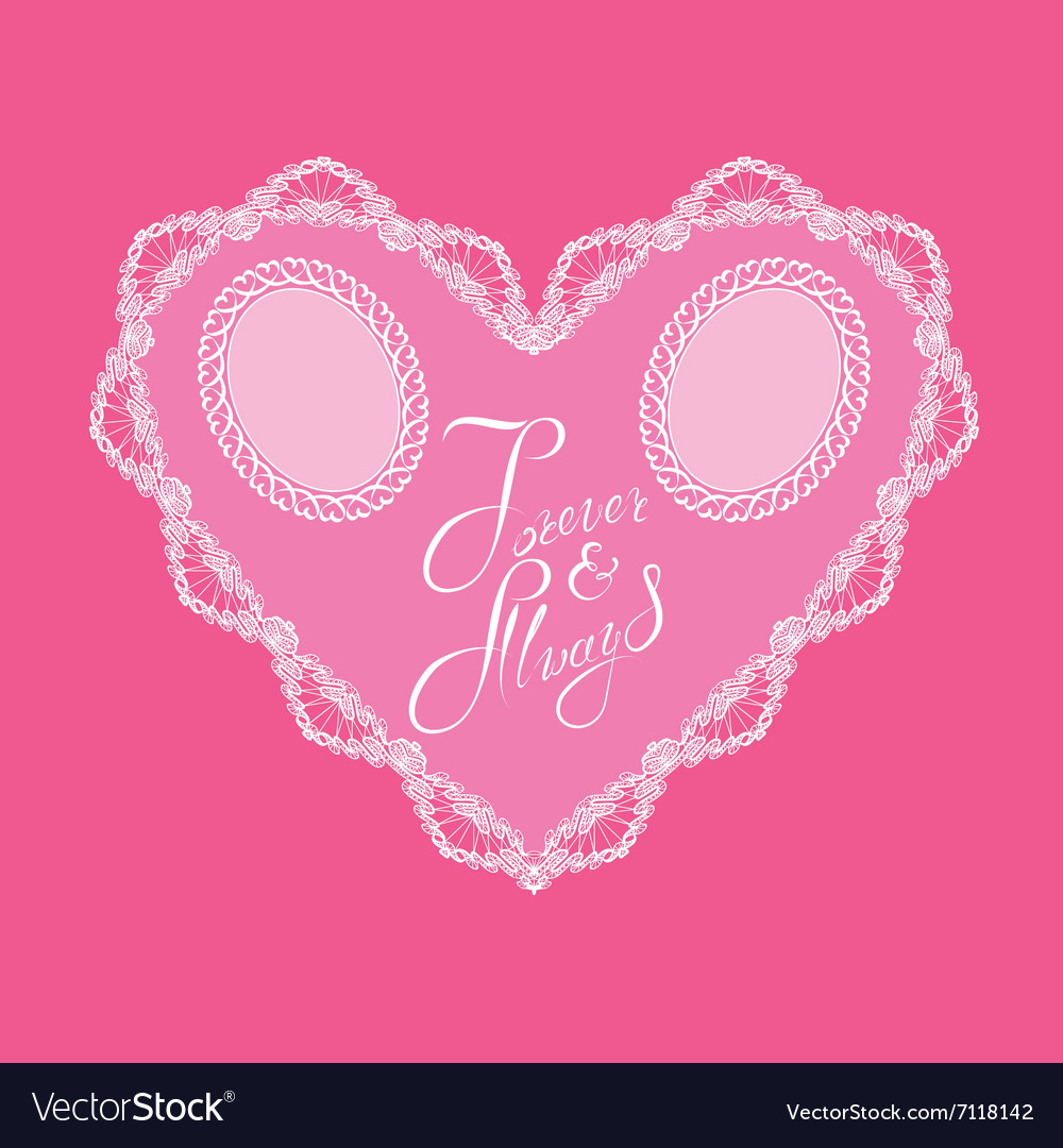 Hearts lace 4 380 vector