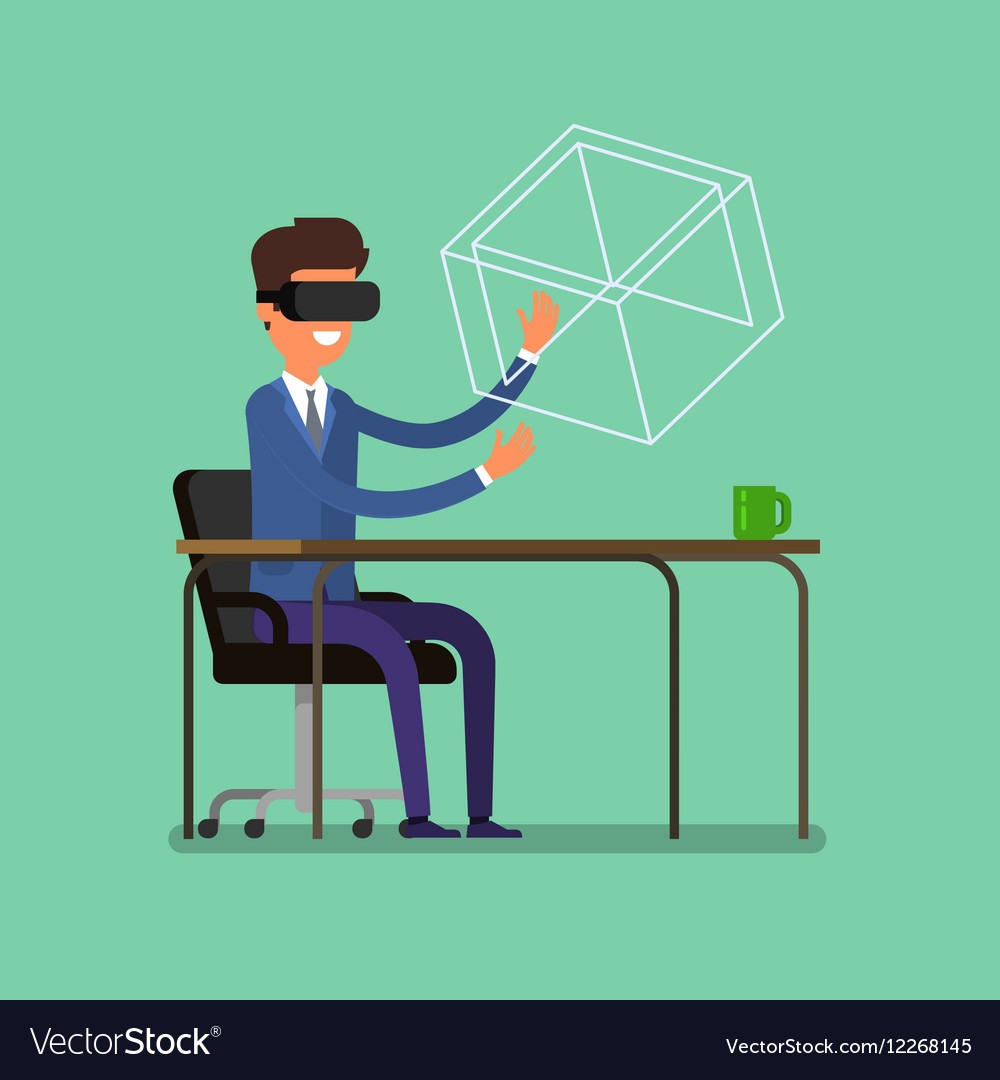 Concept of virtual reality vector