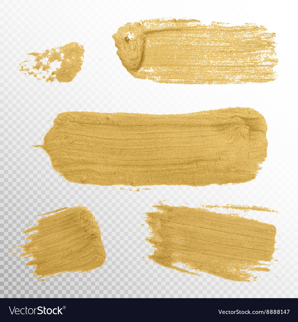 Gold texture paint stain eps 10 vector