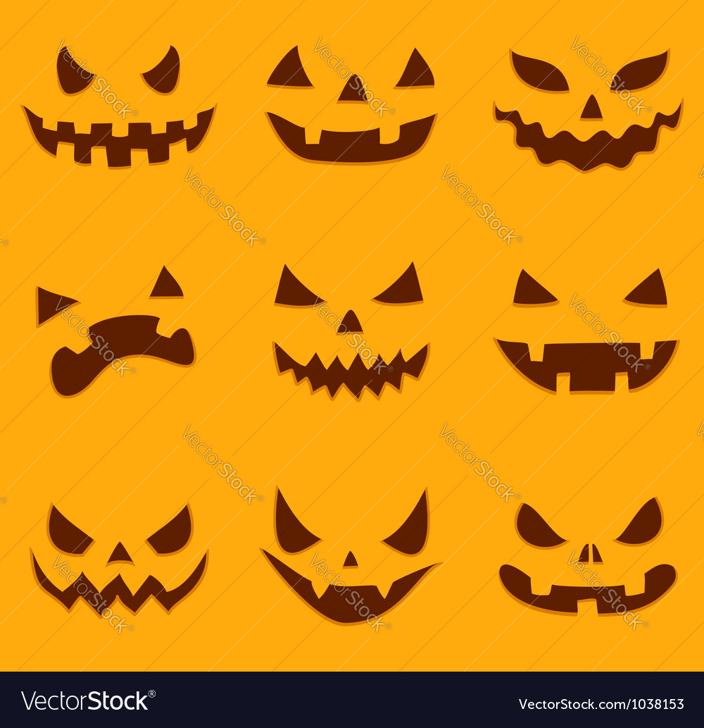 Pumpkin carving vector