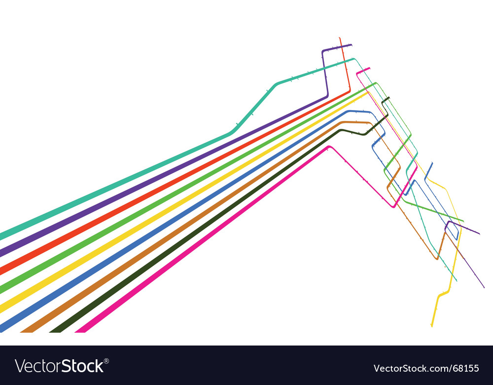 Colored lines vector