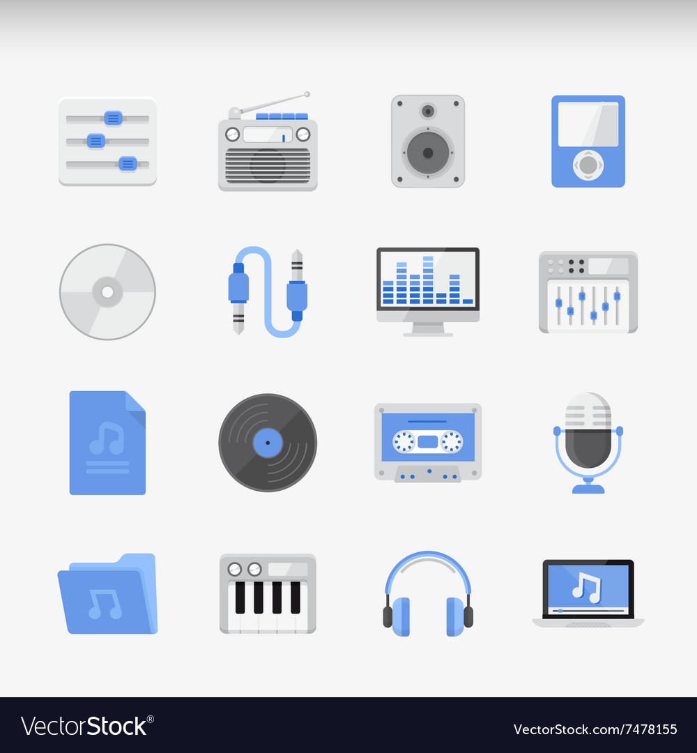Creative flat ikon set vector
