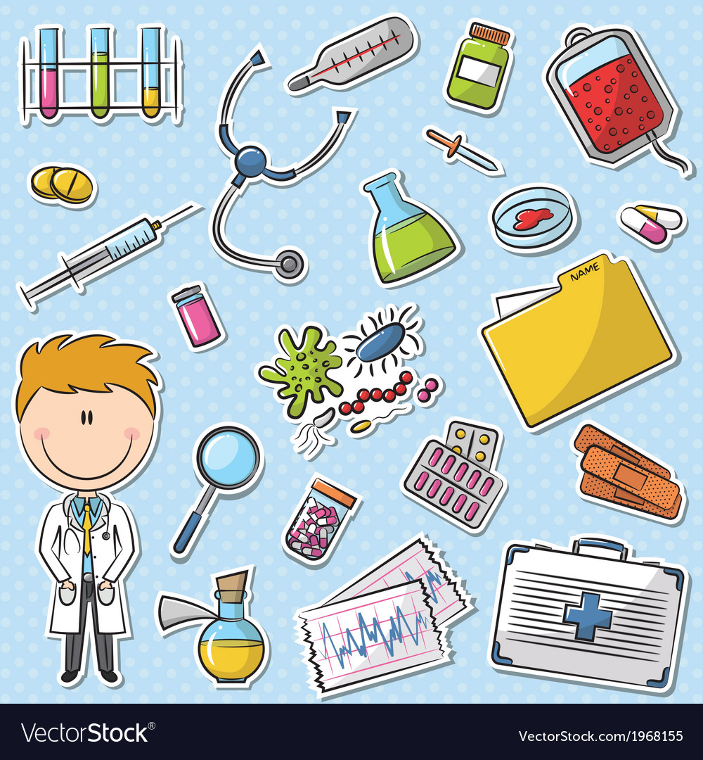Doctor with tools vector
