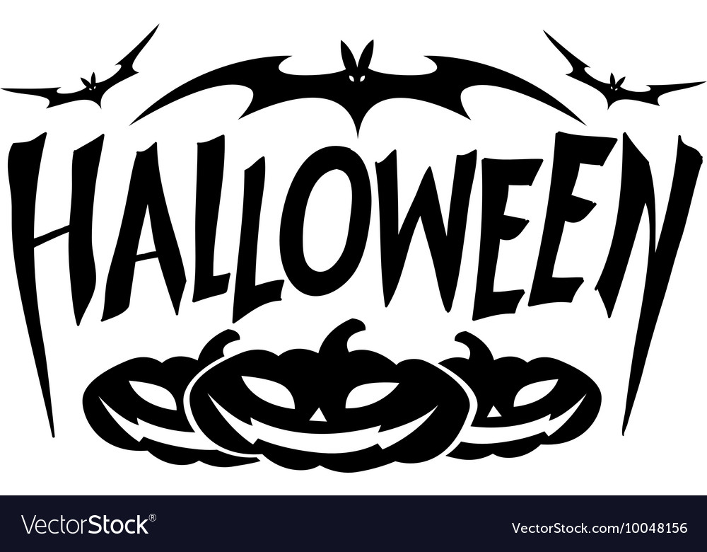 Graphic halloween vector