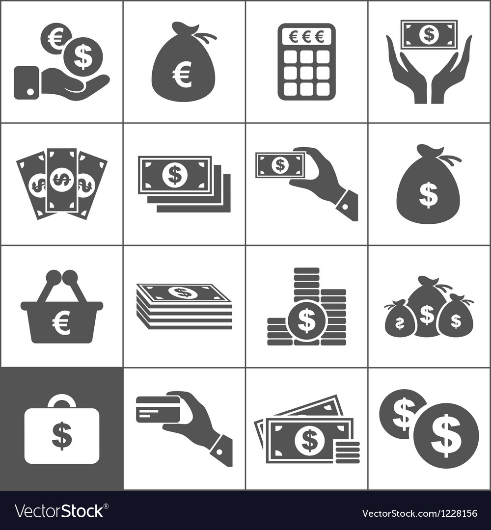 Money an icon vector