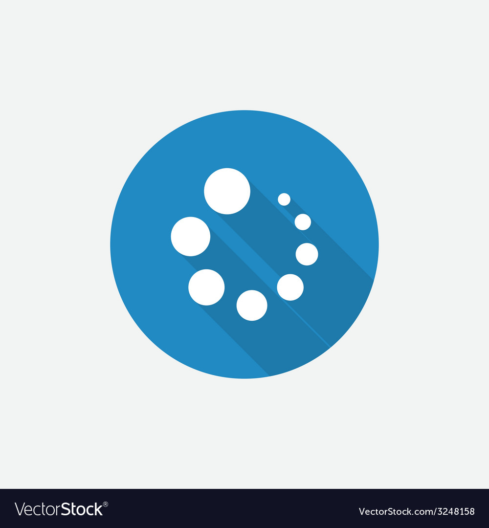 Loading flat blue simple icon with long shadow vector