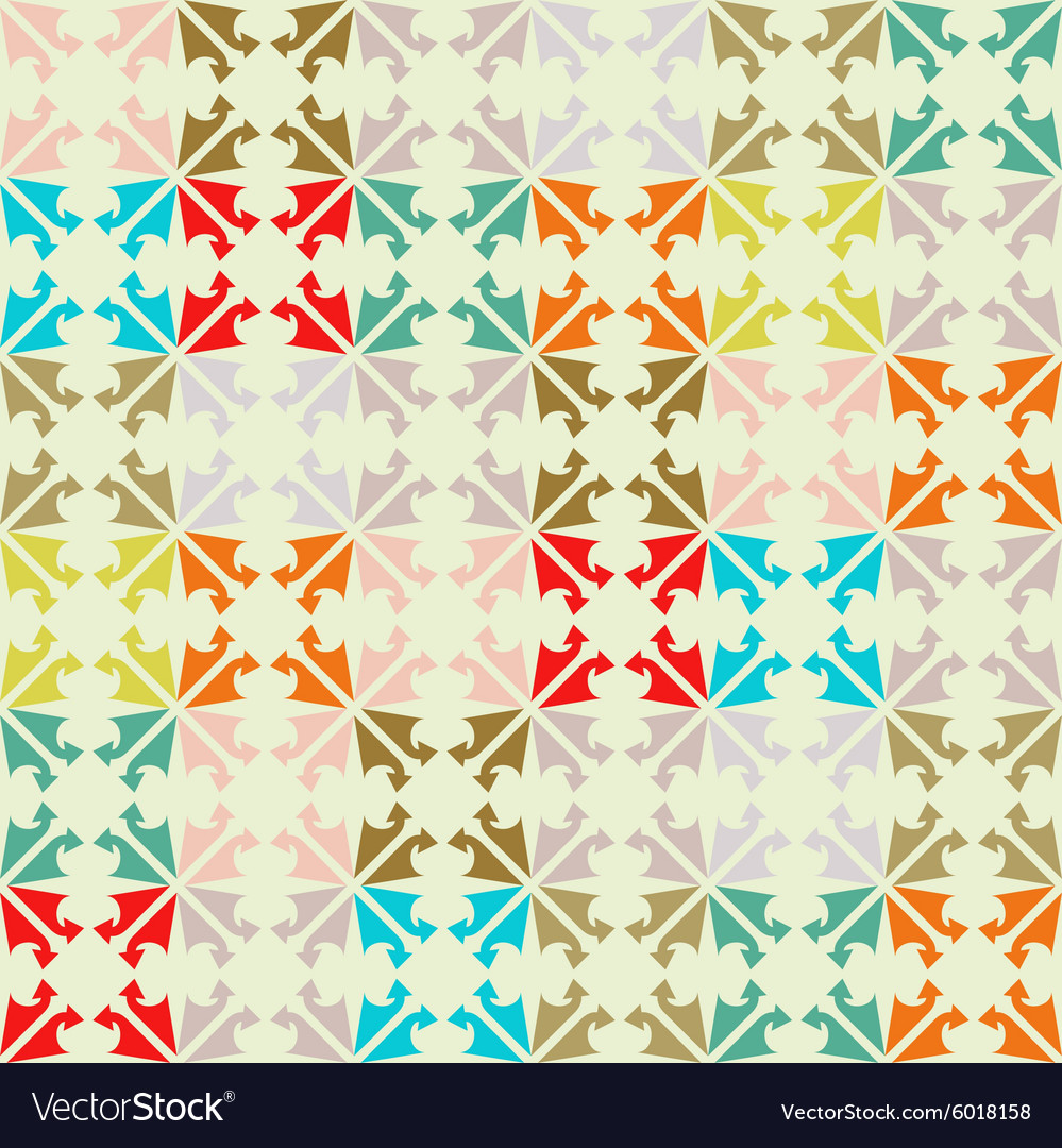 Pattern made from colorful scraps vintage color vector
