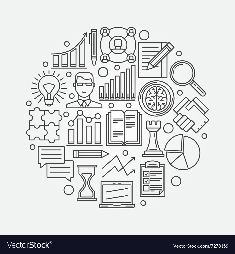 Business strategy planning vector