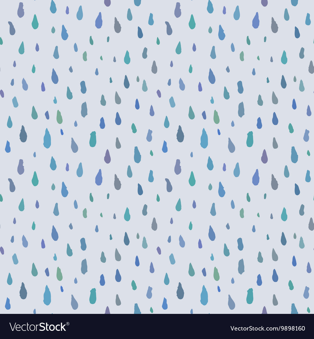 Cute decorative seamless pattern with raindrops vector