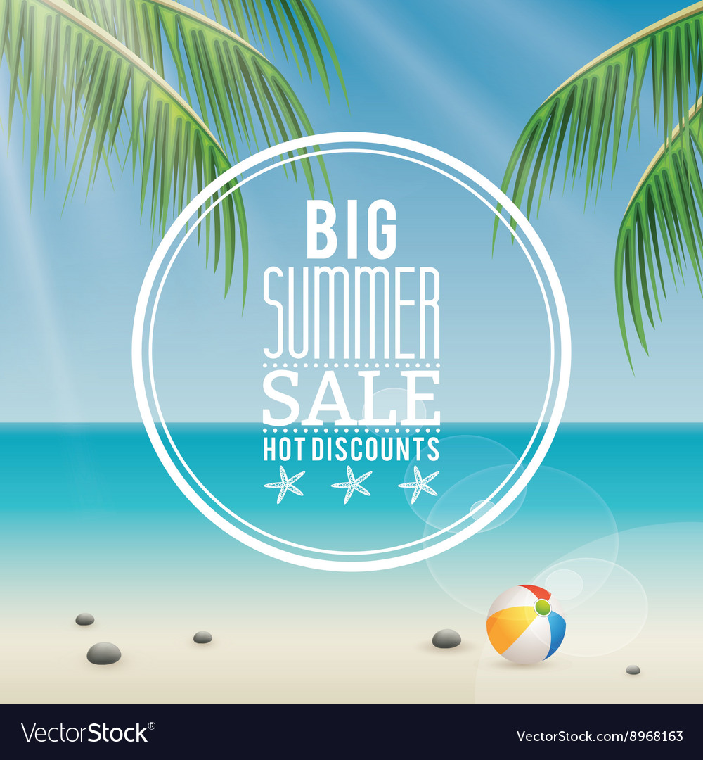 Summer sale label vector