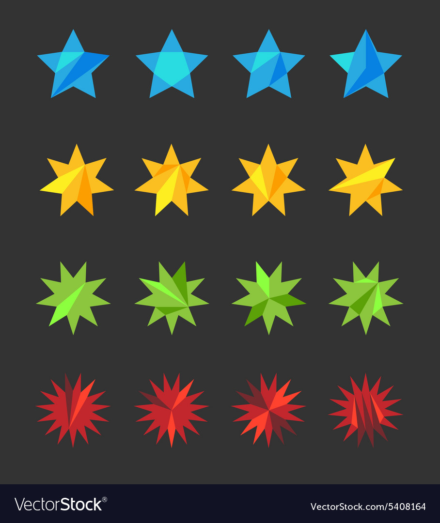 A set of stylized stars vector