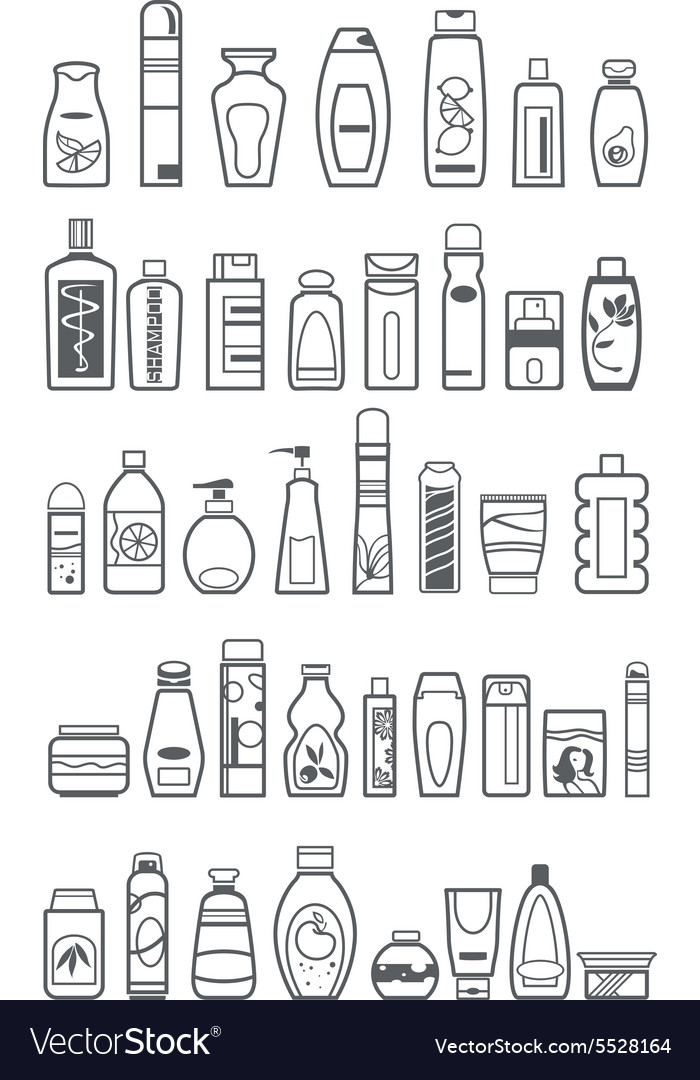 Different cosmetic products vector