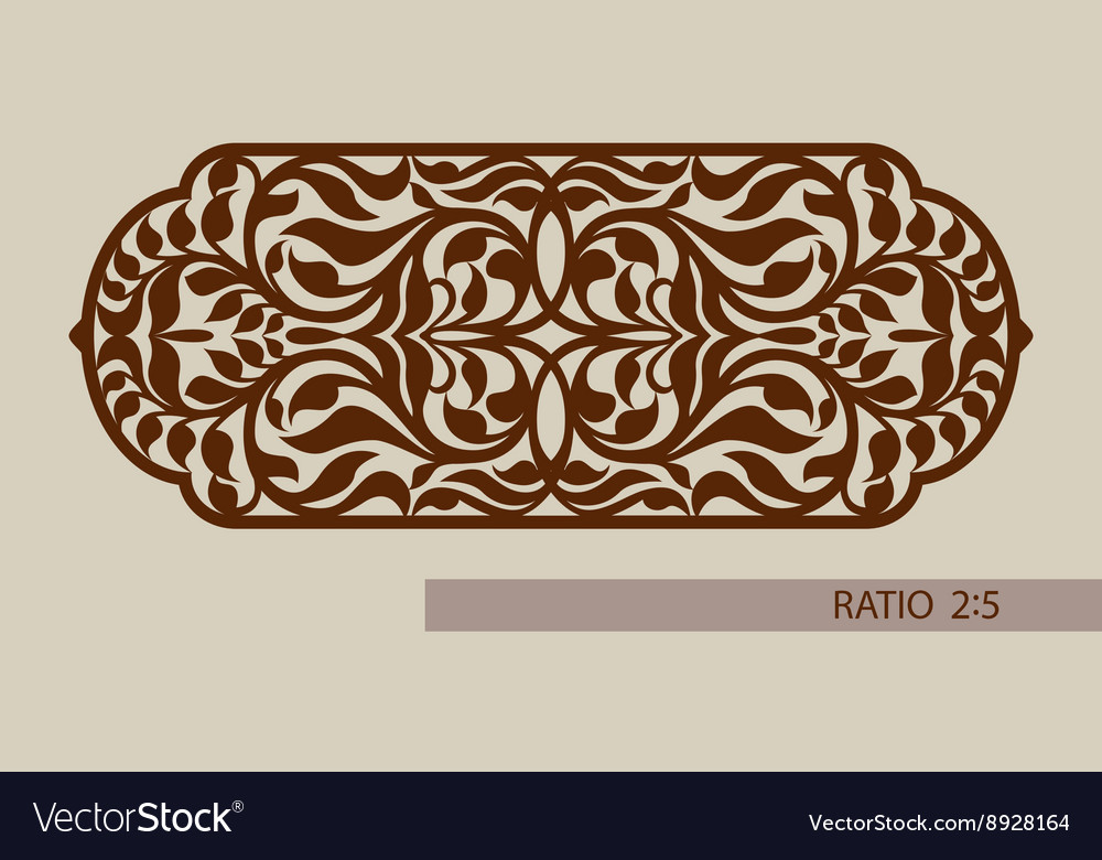 Template pattern for decorative panel vector
