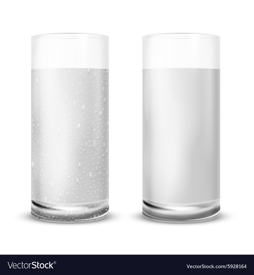 Water glass vector