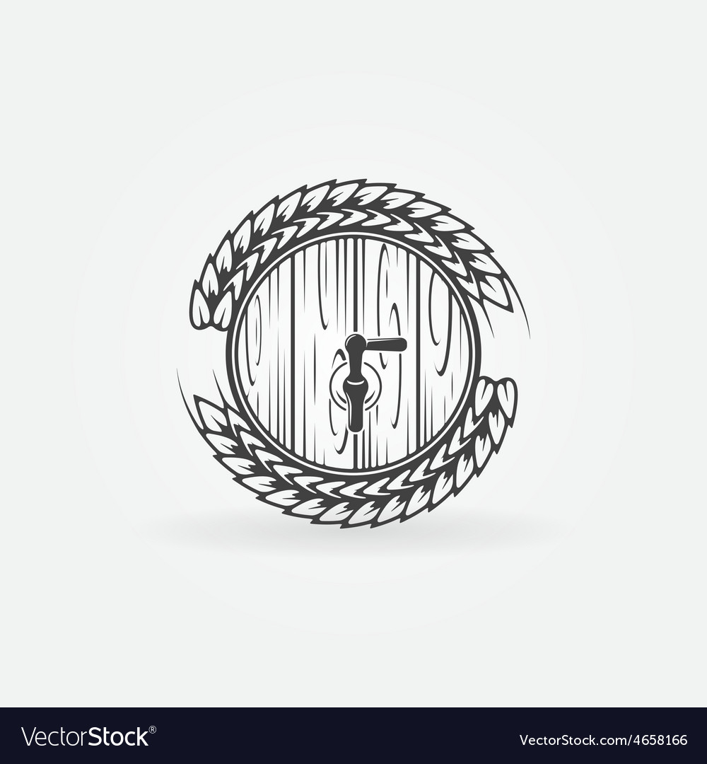 Beer barrel logo vector
