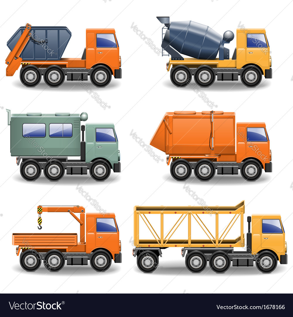 Construction machines set 2 vector