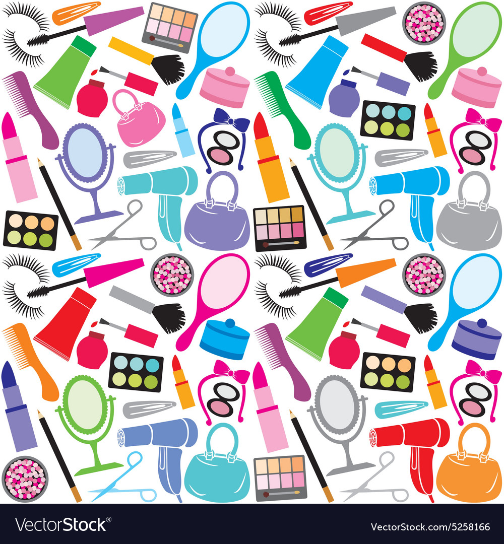 Make up collection pattern vector