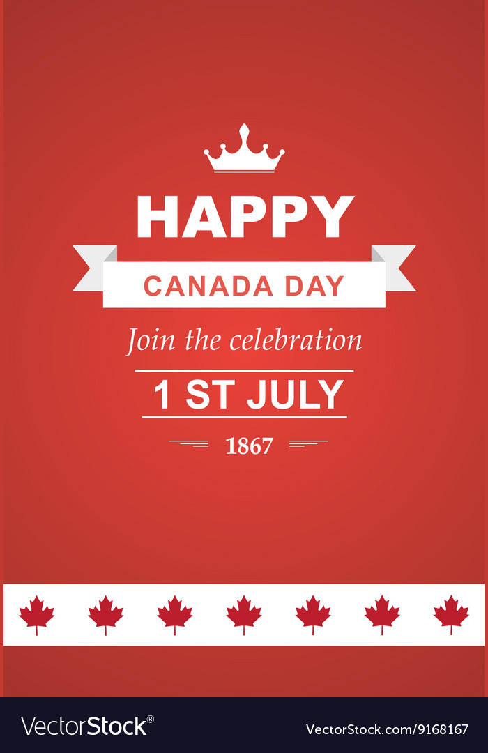 Card for canada day vector