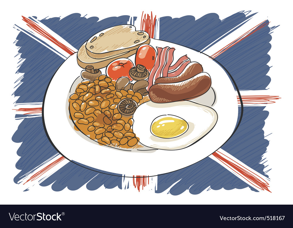 English breakfast vector