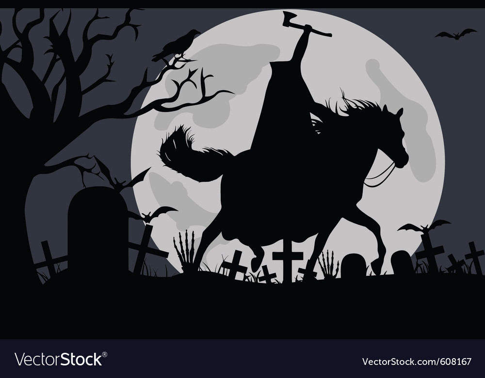 Headless horseman vector
