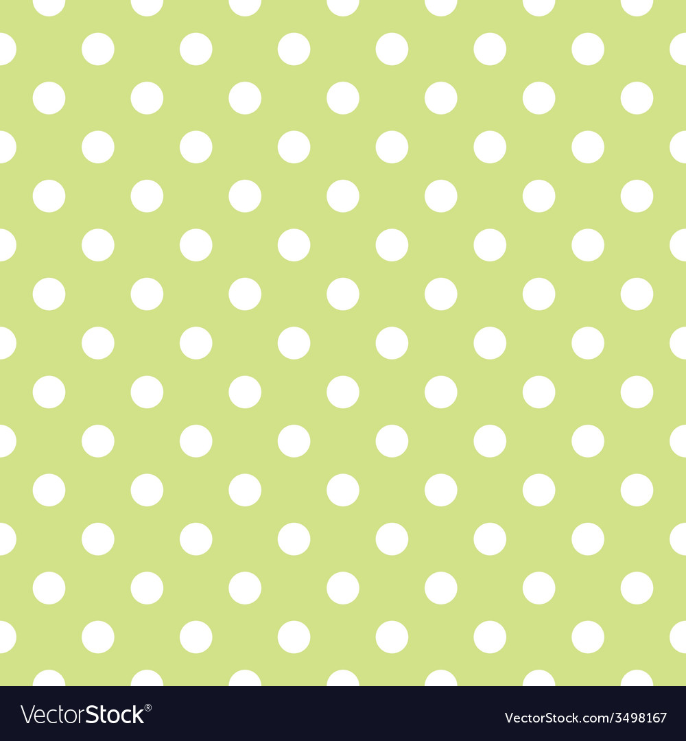 Tile pattern with white polka dots on green vector