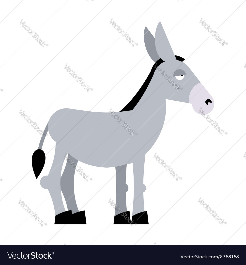 Donkey on white background donkey isolated cartoon vector