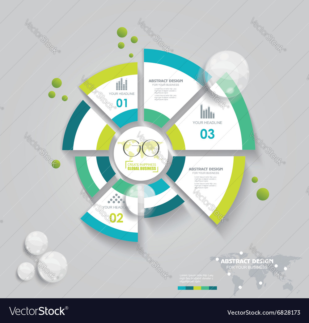 Business pie chart for reports infographic vector