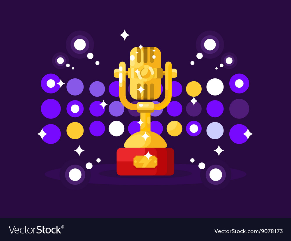 Microphone design flat vector