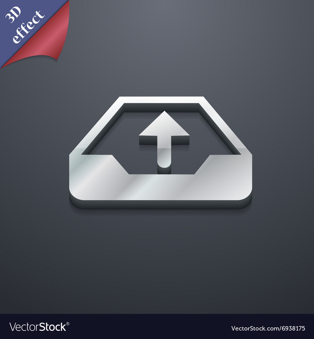 Backup icon symbol 3d style trendy modern design vector