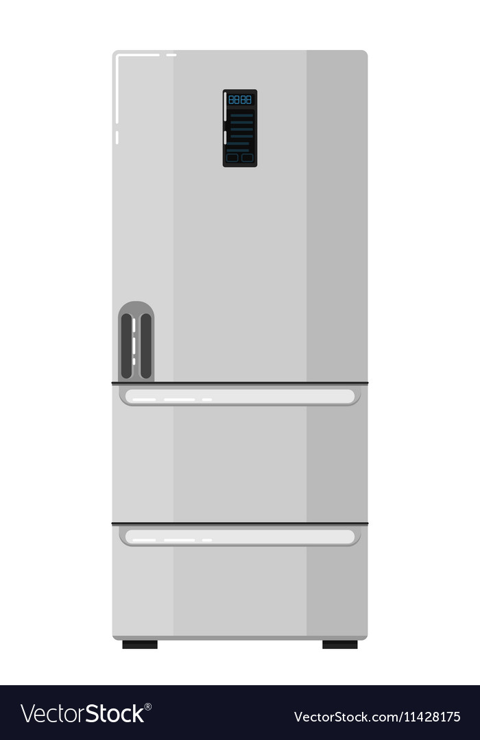 Home refrigerator isolated on white background vector