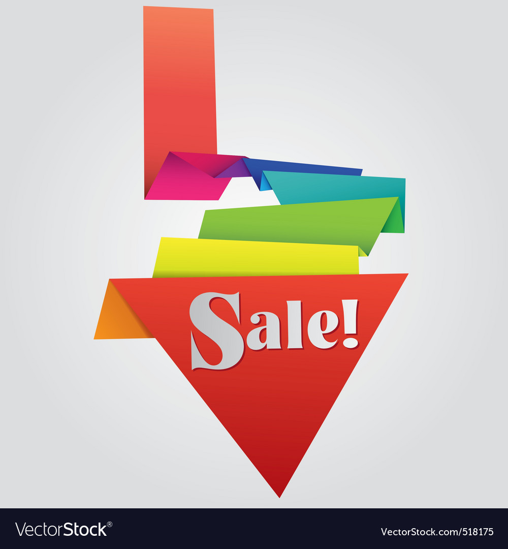 Origami sale label vector