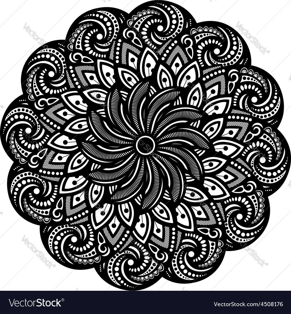 Beautiful deco mandala vector