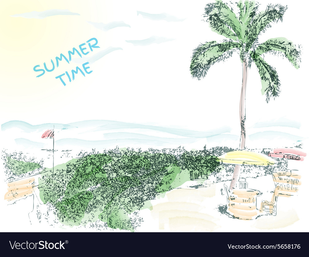 Verctor fully editable summer time background vector