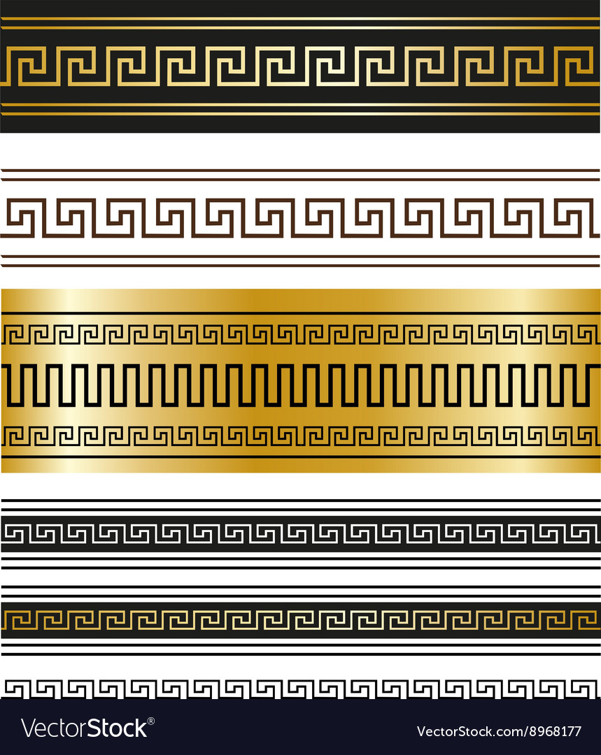 Greek ornaments for your projects vector